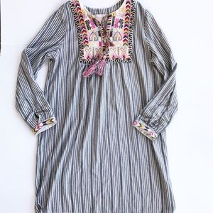 PHILOSOPHY Embroidered Dress Stripe L embroidery